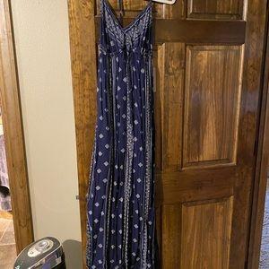 RD Style Navy Maxi T-Back Dress-M